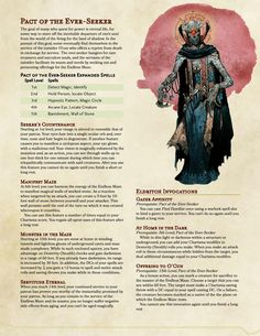 Dungeons And Dragons Rules, Dungeons And Dragons Classes, Dnd Dragons, Dungeons And Dragons Homebrew, Fantasy Races, Fantasy Rpg, Warlock 5e, Character Creation, Character Sheet