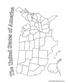USA Map Coloring Page Love The Little Symbols Social Studies - Coloring page us map