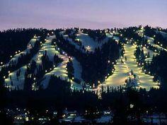 Bear Mountain - Big Bear Lake, California. Go snowboarding. (planning on it for Christmas!)