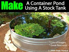 """Ponds do not always need to be a """"hole in the ground."""" Pam Penick owner of Penick Landscape Design in Austin, Texas shares how to make a pond from start to finish using a stock tank. Click on the below for the how to details: Container Pond in Stock Tank Check out Pam's book – …"""