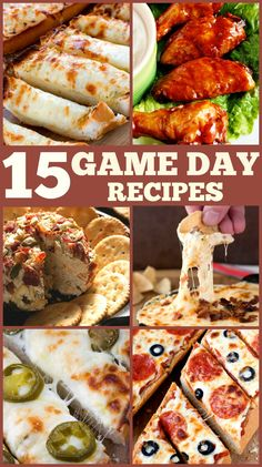 15 Best Game Day Recipes #gameday @crunchycreamysw