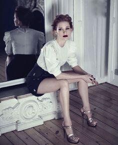 Jessica Chastain en Yves Saint Laurent.