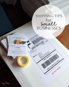Shipping Tips for Small Businesses from Kendra of Key Lime Digital Designs