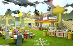 Playground Design, Backyard Playground, Kids Indoor Playhouse, Kids Restaurants, Exibition Design, Daycare Design, Cabana, Kindergarten Design, Kids Cafe