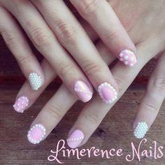 Dainty nail art.