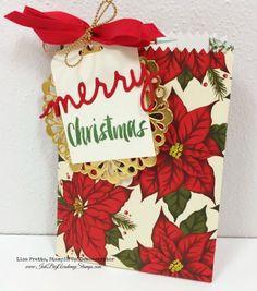 Stampin'Up! holiday catalog sneak peek, Mini Treat Bag Thinlit, Christmas Greetings thinlits, Christmas