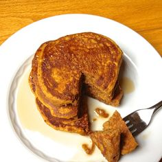 Whole Wheat Pumpkin Pancakes - Moist, fluffy and delicious. The Lemon Bowl