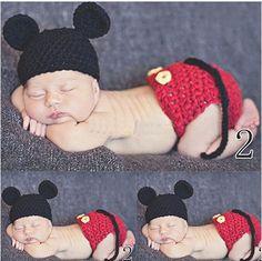 Baby Girls Boy Newborn Knit Crochet Clothes Photo Prop Outfits 0-6M 08 #Handmade #DressyEverydayHoliday