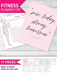 Fitness Planner Fitness Journal Health and Fitness par plannersbyB