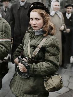 15 year old Hungarian freedom fighter, Budapest 1956 - Imgur