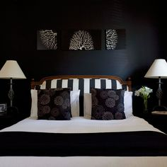 sophisticated black and white  my next home project is redoing my bedroom in black and white