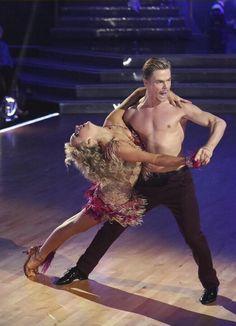 "Dancing With the Stars - Derek Hough & Nastia Liukin danced a samba to Fulanito's ""Chillando Goma"" - Season 20 - Week 3 - Spring 2015 - score - 9+8+9+8 = 34"