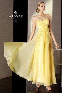 d49ce67585 This flowing chiffon Alyce Paris B Dazzle 35500 prom dress is a beautiful  choice. The sweetheart neckline is ruched and surplice wrapped with a  matching ...