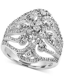 EFFY Diamond Ring (1-1/10 ct. t.w.) in 14k White Gold