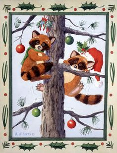 Raccoon Romance by Maureen McCarthy ~ Christmas