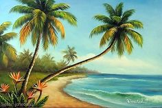 Other Contemporary Paintings, Contemporary Paintings, Art Island Pictures, Lake Pictures, Pictures To Paint, Beach Sunset Painting, Beach Art, Simple Acrylic Paintings, Seascape Paintings, Landscape Art, Landscape Paintings