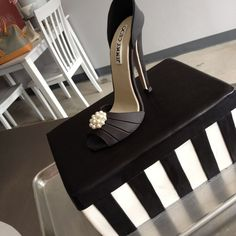 Shoe box cake for a 50th birthday celebration. Description from pinterest.com. I searched for this on bing.com/images