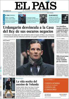 Los Titulares y Portadas de Noticias Destacadas Españolas del 24 de Febrero de 2013 del Diario El País ¿Que le parecio esta Portada de este Diario Español?