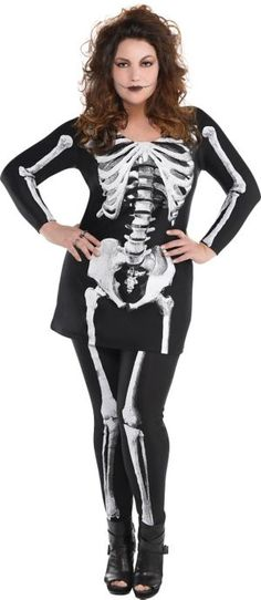 Plus size skeleton costume from Party City