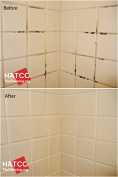 before and after colorsealing grout using custom building products light smoke colored grout. Black Bedroom Furniture Sets. Home Design Ideas