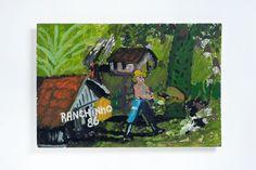 Ranchinho (Sebastião) - 1986  S/T  Óleo sobre Tela | Eucatex  39 x 58 cm