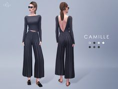 starlord's Wide leg pants - CAMILLE (Long)