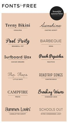 While working on a recent branding project for a wedding photographer, I put together a list of really pretty font combinations for her to choose from for her business card design. I'm still … for summer! We love the variety of styles this pin provides. Inspiration Typographie, Typography Inspiration, Graphic Design Inspiration, Design Ideas, Fontes Cricut, Blog Fonts, Polices Cricut, Design Web, Logo Design