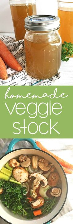 Homemade Vegetable Stock Recipe: Veggie stock is simple to make, and adds a wonderful flavor to homemade soups and dishes.