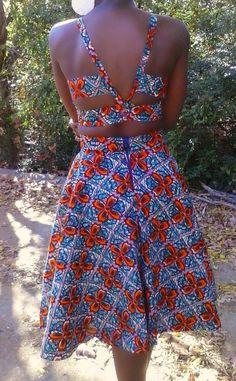 Mid length high waist skirt. Latest African Fashion, African Prints, African fashion styles, African clothing, Nigerian style, Ghanaian fashion, African women dresses, African Bags, African shoes, Nigerian fashion, Ankara, Aso okè, Kenté, brocade etc ~DK