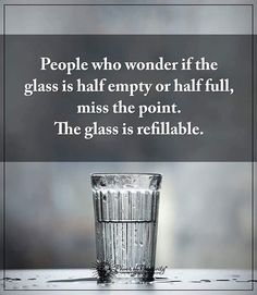 The glass is refilmable