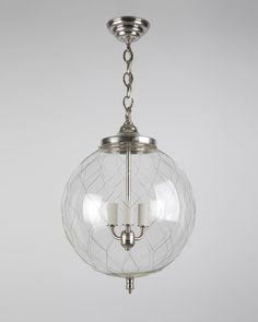 Sorenson 14 Lantern Shown in Burnished Nickel - Remains lighting