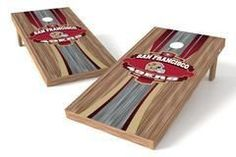 San Francisco 49ers Single Cornhole Board - Wood
