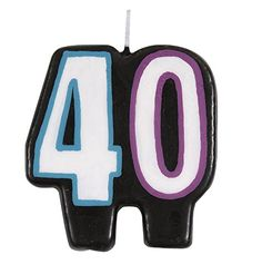 Birthday Cheer 40th Birthday Candle ** Click here for more details @ http://www.amazon.com/gp/product/B00TTXFCFM/?tag=homeimprtip08-20&fg=080716073845