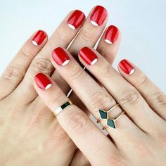 Half moon manis are a stellar way to incorporate some Halloween fun into your day-to-day