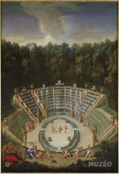 316 The Fountains of Versailles in the Time of Louis XIV: Salle de Bal ou Bosquet des Rocailes (Cotelle) Louis Xiv, Versailles Paris, Versailles Garden, Parks, Francis I, Maria Theresa, Palace Garden, French History, Art History