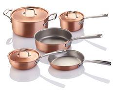 I have this set. Falk Copper Cookware Set