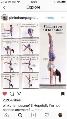 Finding your handstand - Finding your handstand Check more at yoga.mobiluygulam… Finding your handstand Check more at yoga - Yoga Fitness, Fitness Workouts, At Home Workouts, Physical Fitness, Power Lifting Workouts, Fitness Games, Kids Fitness, Health Fitness, Fitness Humor