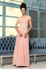cap-sleeves bridesmaid dress - From prom-2013.com