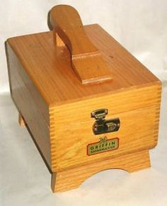 Vintage shoe shine box - our family had this.  I remember the smell of shoe polish when it was opened.