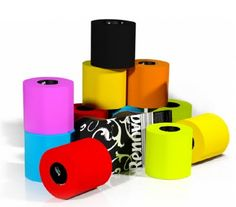 colorful toilet paper!