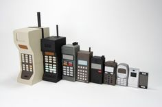 Mobile phone evolution (cardboard) #Mobile, #Phone
