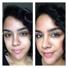 Younique Before/After Honey BB CReam Touch Powder Foundation in Satin Blush in Stunning Splurge Cream Shadow in Dainty 3D Fiber Lash Mascara Sleek Lip Stain