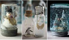 Snadné zasněžené skleničky