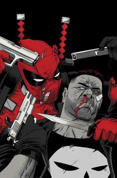 Deadpool vs Punisher by Declan Shalvey