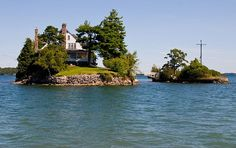 Thousand Islands New York...shortest bridge in the world which connects two nations, (Canada & USAh