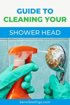 It's not a chore you often remember to do, but cleaning a shower head is important, and may even prevent the buildup of unhealthy bacteria. Our guide shows you the 2 main ways to safely and effectively clean a shower head. Bathroom Cleaning Checklist, Oven Cleaning Hacks, Cleaning Bathroom Tiles, Toilet Cleaning, House Cleaning Tips, Cleaning Items, Clean Shower Grout, Clean Bathtub, Shower Cleaner