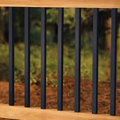 Create an elegant style for your deck with Deckorators Estate square balusters. Shop Deck Expressions for the best customer service and leading products. Metal Deck Railing, Deck Balusters, Front Porch Railings, Deck Railing Design, Patio Railing, Patio Pergola, Deck With Pergola, Deck Design, Pergola Kits