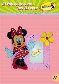 Este es un portafoto ideal para decorar el cuarto de las niñas, el diseño es de la ratona Minnie (Derechos de Disney), al  Fomi o Goma Eva l...
