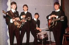 1963, The Beatles, Paul McCartney, George Harrison, Ringo Starr and John Lennon. (Photo by Popperfoto/Getty Images)