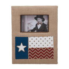 Texas Flag Burlap Picture Frame